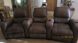 leather theater recliners