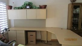 wrap around desk with or without cabinets