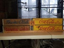 Set of 4 Vintage Coca-Cola and Towne Club Crates https://ctbids.com/#!/description/share/73191