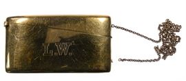 14k Gold Calling Card Holder on Chain
