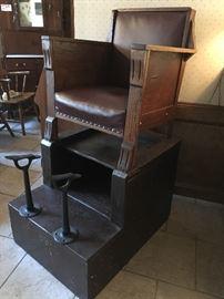 Antique Shoe Shiner's Chair