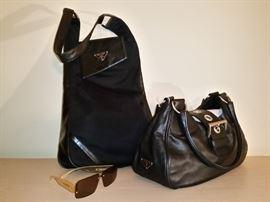 Prada handbags and sunglasses
