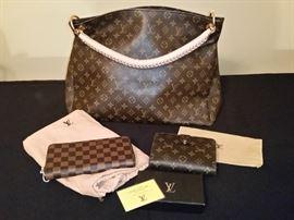 Louis Vuitton handbag and wallets