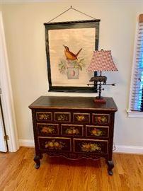 Hand painted 9 drawer dresser