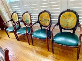 Set of 6 vintage dining chairs from The View Restaurant at Key Bridge Marriott in the 1950s