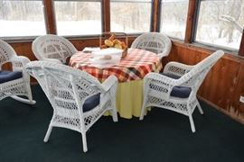 Wicker Patio Table and Chairs