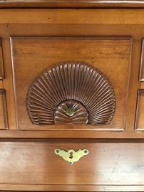 Detail of 18th Century Cherry Chest on Frame