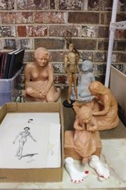 Sculptures And Early Sketches by Shirley LaPlante