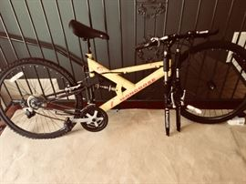 One of two bicycles