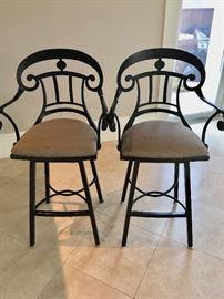 Two of several matching bar stools