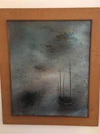 Josef Farhi (1933-1997) oil on canvas
