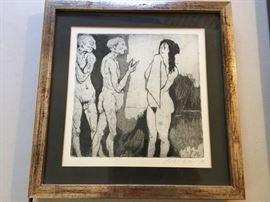 Earl Klein etching