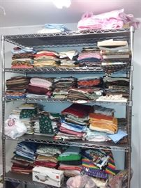Shelves & Boxes of Quilting & Fashion Fabrics