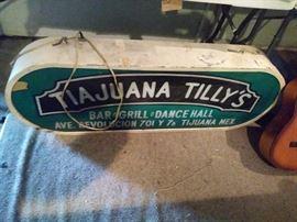 Tia juana Tilly's sign