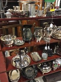 Silver plate galore with some sterling pieces