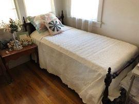 Beautiful Cherry wood twin bed
