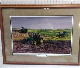 """John Deere """"Take Command"""" framed print 736/7000 https://ctbids.com/#!/description/share/81969"""