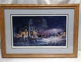 """""""Winter Wonderland"""" by Terry Redlin. #18130/29509 framed print        https://ctbids.com/#!/description/share/81973"""