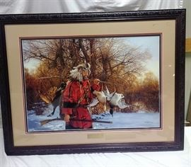 """""""The Bountiful Day"""" by Paul Calle. Framed print 16/1500 https://ctbids.com/#!/description/share/81972"""