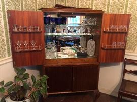 """Cool hide-a-bar! """"Honey, I'm home!"""" Check out the olive picks!"""