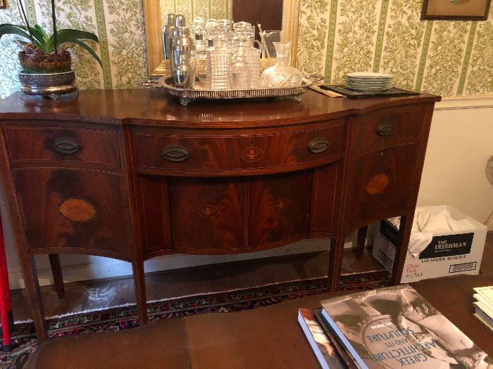 1940 mahogany Biggs inlaid sideboard