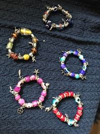 Made with glass beads and every charm bracelet is different