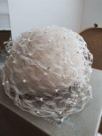 Vintage Yves St. Laurent hat.  Original Frederick & Nelson hat box
