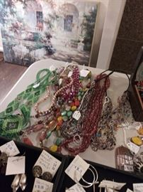 Tons of beaded necklaces