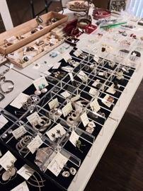 Tons of sterling earrings