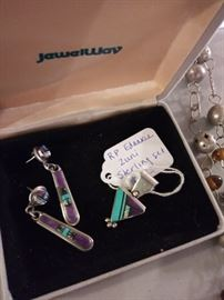 RP Edaakie Zuni sterling pendant and earrings