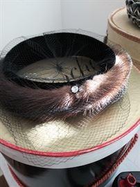 Vintage mink tail veil, from Bon Marche