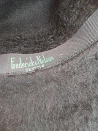 Vintage Merrimac Merri-Soie fur felt wool hat.  Frederick & Nelson