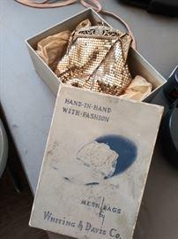 Vintage Whiting & Davis mesh bag with original box