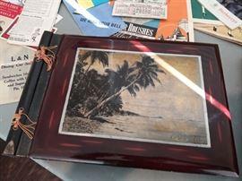 Vintage Hawaii wooden scrapbook