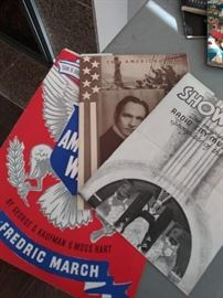 Vintage theater guides from 1939 NY World's Fair trip