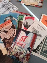Vintage  paper ephemera from 1939 NY Worlds Fair trip