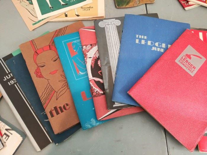 Vintage Clinton Kelly/Commerce High School Portland yearbooks