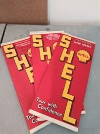 Vintage 1939 NY Worlds Fair Shell road maps