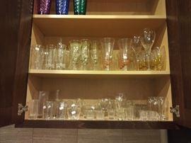 Vintage glass and stemware