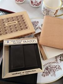 New in box vintage men's leather goods