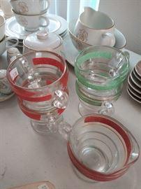 Vintage entertaining glassware