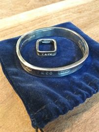 Sterling bangle and ring