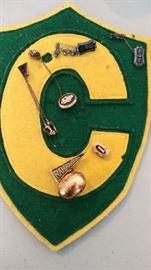 Vintage college sorority pins