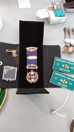 Vintage LBC IOF Independent Order of Foresters Badge/Pin/Medal Enamel