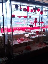 """OPEN GLASS DISPLAY'S WITH GLASS SHELVES                      3- AVAILABLE  60"""" W X 20"""" DEEP X 72"""" HI"""