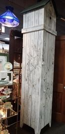 TALL BIRD HOUSE DISPLAY - 2 PIECES - W/ STORAGE IN SIDE