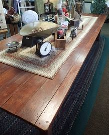 """SOLID WOOD FARM TABLE 11' LONG X 48"""" WIDE GREAT PRIMITIVE PIECE"""
