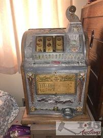 Vintage Genuine 1924 Mills Liberty Bell Nickel Slot Machine