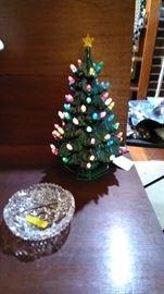 Smaller lighted ceramic Christmas tree