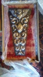 PAIR OF SPANISH COLONIAL SILVER PLAQUES - PROFESSIONALLY MOUNTED AND CONSERVED